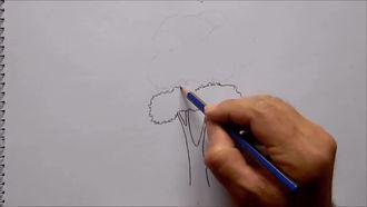 Kolay Üç Adet Ağaç Çizimi - Çeşitli Ağaç Çizimleri izle
